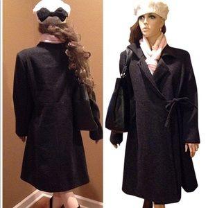 Gap Maternity Charcoal Gray Wool Coat